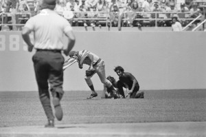 Flag Burning on the Field Stopped by Rick Monday
