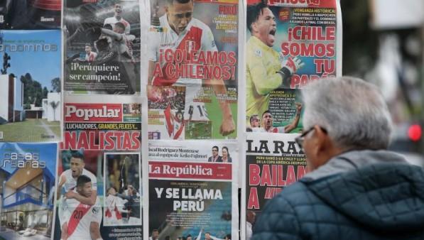 """La prensa peruana alaba el """"histórico triunfo"""" de """"los héroes del Pacífico"""""""